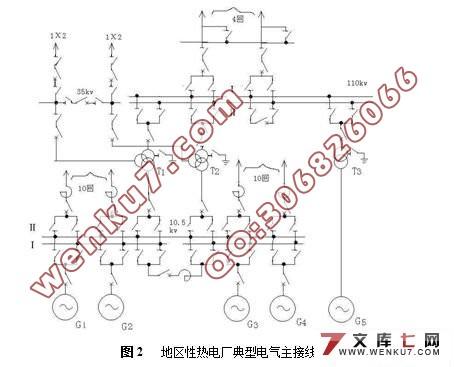 發電廠電氣部分設計(附主接線圖)