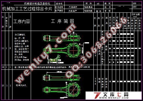 连杆的结构特点   连杆是汽车发动机中的主要传动