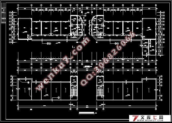 五层教学楼综合楼施工组织设计(cad建筑结构