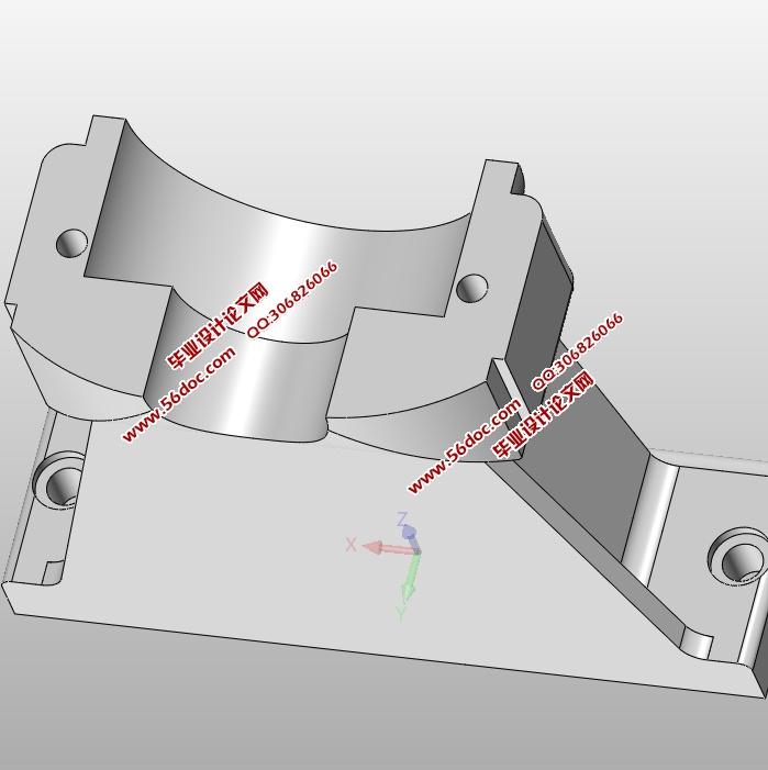右轴承座组件加工工艺及夹具设计(含cad零件夹具图,solidworks三