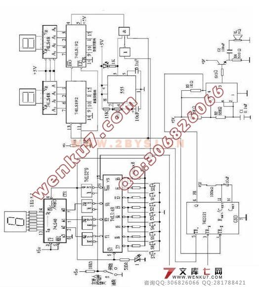 摘要:数字抢答器由主体电路与扩展电路组成。优先编码电路、锁存器、译码电路将电路的输入信号在显示器上输出;用控制电路和主持人开关启动报警电路,以上两部分组成主体电路。通过定时电路和译码电路将秒脉冲产生的信号在显示器上输出实现计时功能,构成扩展电路。经过布线、焊接、调试等工作后数字抢答器成形。 〖资料来源:WENKU7.